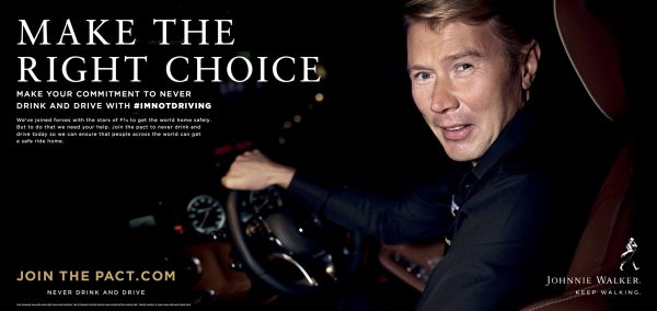 Mika Häkkinen revine in Romania pentru a sustine initiativa globala JOHNNIE WALKER – Join the Pact: Never drink and drive