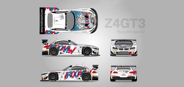 Echipele BMW folosesc un design special pentru cursa de la Spa