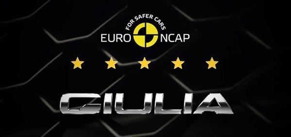 Alfa Romeo Giulia: 5 stele Euro NCAP